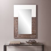SEI Holly & Martin Wagars Mirror - Burnt Oak/White (WS4698)