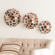 SEI Jessalyn Metal Sphere Wall Sculptures - 3 Piece Set (WS8913)