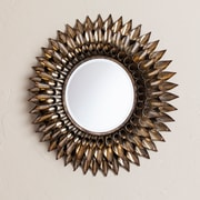 SEI Leandro Round Decorative Wall Mirror - Silver (WS8914)