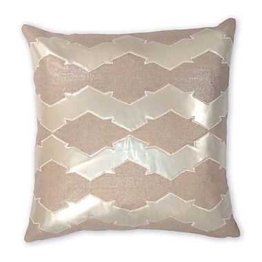 Piper Collection Lauren Linen/Faux Leather Throw Pillow