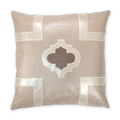 Piper Collection Griffin Faux leather/Linen Throw Pillow