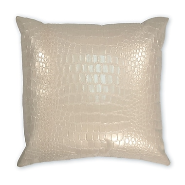 Piper Collection Jagger Faux leather Throw Pillow