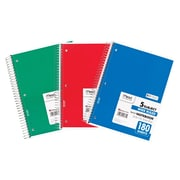 "Mead Five Star Spiral 5 Subject Wide Ruled Notebook, 10 1/2""(H) x 7 1/2""(W)"