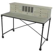 MOTI Furniture Syracuse Writing Desk w/ Hutch