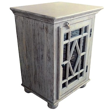 MOTI Furniture Burbank Single Door Accent Cabinet
