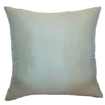 The Pillow Collection Constance Plain Silk Throw Pillow; 22'' x 22''