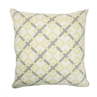 The Pillow Collection Kaedee Square Knot Cotton Throw Pillow; 22'' x 22''