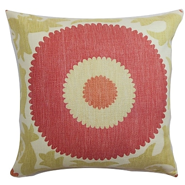 The Pillow Collection Yspaddaden Floral Cotton Throw Pillow; 22'' x 22''