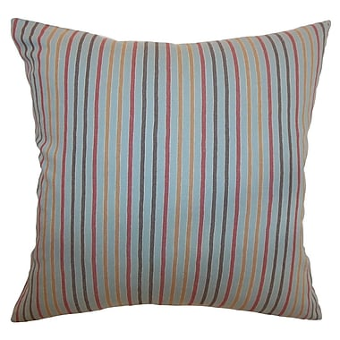 The Pillow Collection Lesly Stripes Cotton Throw Pillow; 24'' x 24''