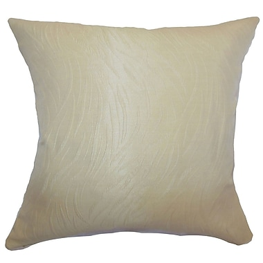 The Pillow Collection Nichola Plain Throw Pillow; 24'' x 24''