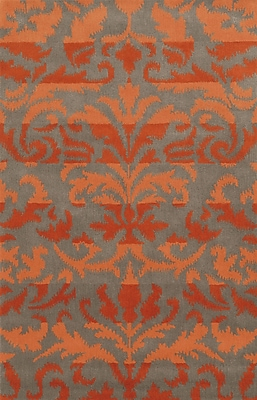 Wildon Home Adiva Hand-Tufted Red/Orange Area Rug; Rectangle 9' x 12'