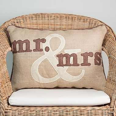 Glory Haus Mr. and Mrs. Throw Pillow
