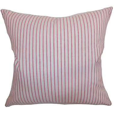 The Pillow Collection Debrah Stripes Cotton Throw Pillow; 22'' x 22''