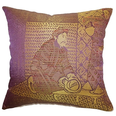 The Pillow Collection Ladinas Weave Throw Pillow; 22'' x 22''