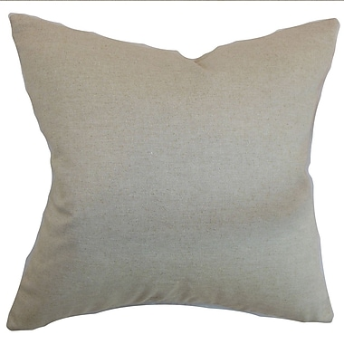 The Pillow Collection Napperby Solid Cotton Throw Pillow; 24'' x 24''