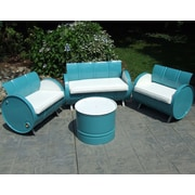 Drum Works Furniture Del Ray 4 Piece Seating Group w/ Sunbrella Cushion