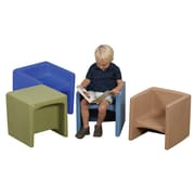 Children's Factory Cozy Woodland Cube Chair Set (Set of 4)