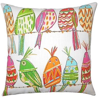 The Pillow Collection Tarhe Graphic Cotton Throw Pillow; 24'' x 24''