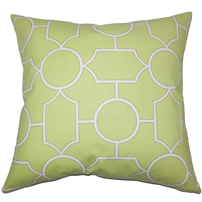 The Pillow Collection Umed Geometric Cotton Throw Pillow; 24'' x 24''