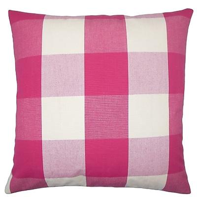 The Pillow Collection Pyralis Plaid Cotton Throw Pillow; 22'' x 22''