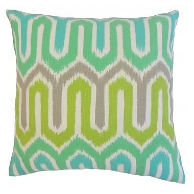 The Pillow Collection Cahya Geometric Outdoor Throw Pillow; 22'' x 22''