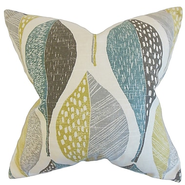 The Pillow Collection Valter Geometric Cotton Throw Pillow; 22'' x 22''