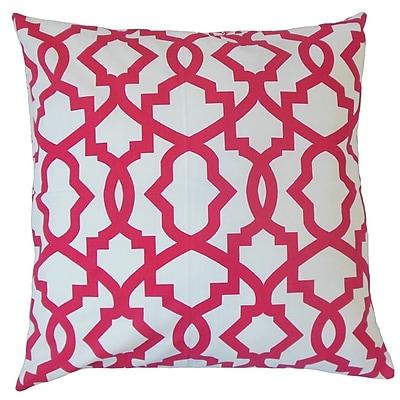 The Pillow Collection Zeljko Cotton Throw Pillow; 24'' x 24''
