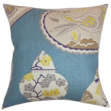 The Pillow Collection Xeniva Floral Cotton Throw Pillow; 24'' x 24''