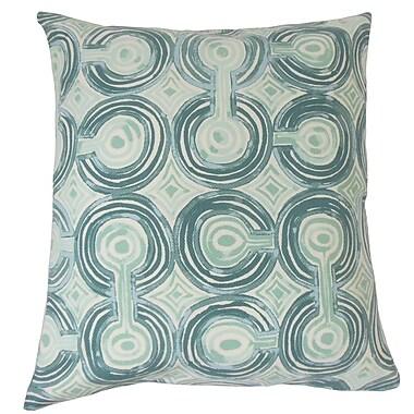 The Pillow Collection Alphege Geometric Cotton Throw Pillow; 24'' x 24''