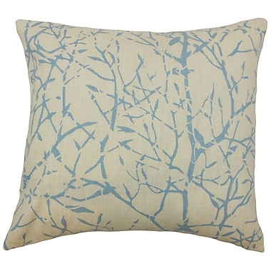 The Pillow Collection Isi Graphic Linen Throw Pillow; 22'' x 22''