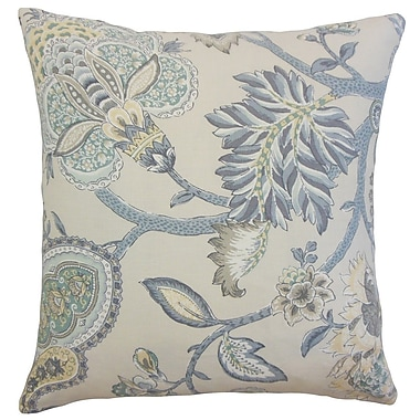 The Pillow Collection Liora Floral Throw Pillow; 24'' x 24''