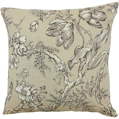 The Pillow Collection Blair Floral Throw Pillow; 24'' x 24''