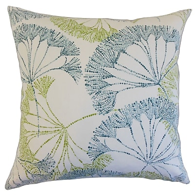 The Pillow Collection Grove Floral Cotton Throw Pillow; 24'' x 24''