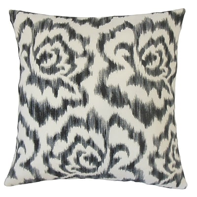 The Pillow Collection Lidewij Ikat Cotton Throw Pillow; 22'' x 22''