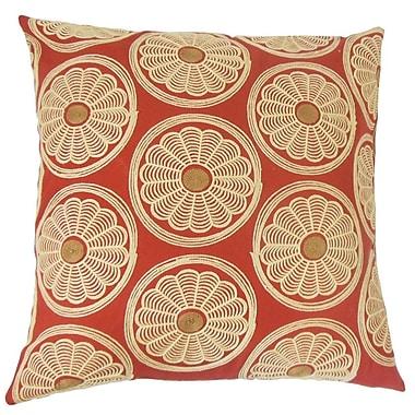 The Pillow Collection Bernique Floral Cotton Throw Pillow; 22'' x 22''