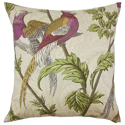 The Pillow Collection Laoise Graphic Cotton Throw Pillow; 24'' x 24''