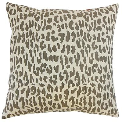 The Pillow Collection Ilandere Animal Print Throw Pillow; 24'' x 24''
