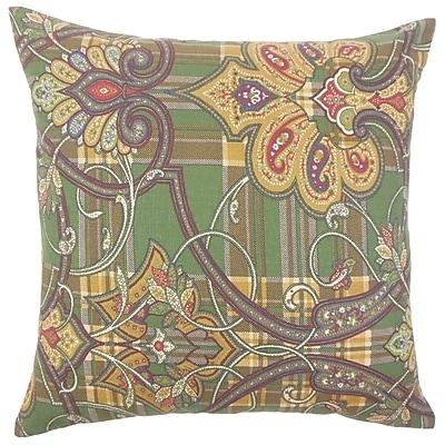 The Pillow Collection Keil Damask Cotton Throw Pillow; 24'' x 24''