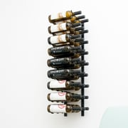 VintageView Wall Series 27 Bottle Wall Mounted Wine Rack; Satin Black