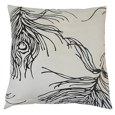 The Pillow Collection Neorah Graphic Cotton Throw Pillow; 24'' x 24''