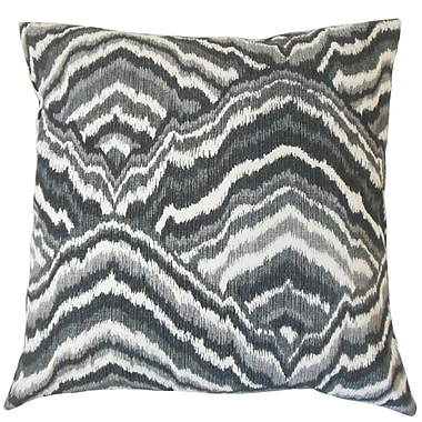 The Pillow Collection Quiana Graphic Cotton Throw Pillow; 24'' x 24''
