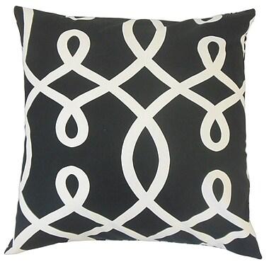 The Pillow Collection Precia Geometric Cotton Throw Pillow; 22'' x 22''