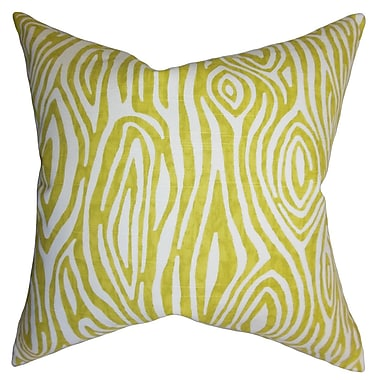 The Pillow Collection Thirza Swirls Cotton Throw Pillow; 24'' x 24''