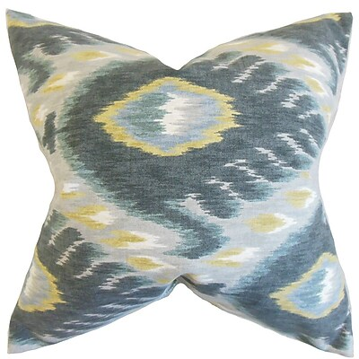 The Pillow Collection Barnum Ikat Cotton Throw Pillow; 22'' x 22''