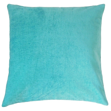 The Pillow Collection Elior Solid Velvet Throw Pillow; 24'' x 24''