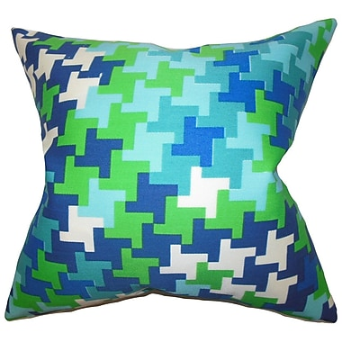 The Pillow Collection Ciel Geometric Throw Pillow; 24'' x 24''