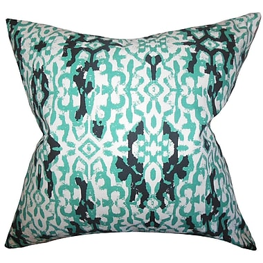The Pillow Collection Madrigal Ikat Cotton Throw Pillow; 22'' x 22''