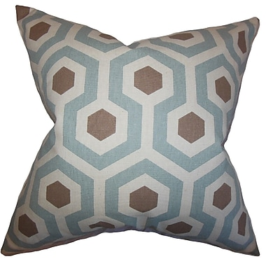 The Pillow Collection Maliah Geometric Cotton Throw Pillow; 24'' x 24''