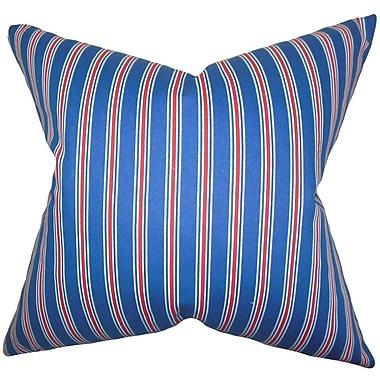 The Pillow Collection Corliss Stripes Cotton Throw Pillow; 24'' x 24''