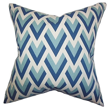 The Pillow Collection Eleri Geometric Cotton Throw Pillow; 22'' x 22''
